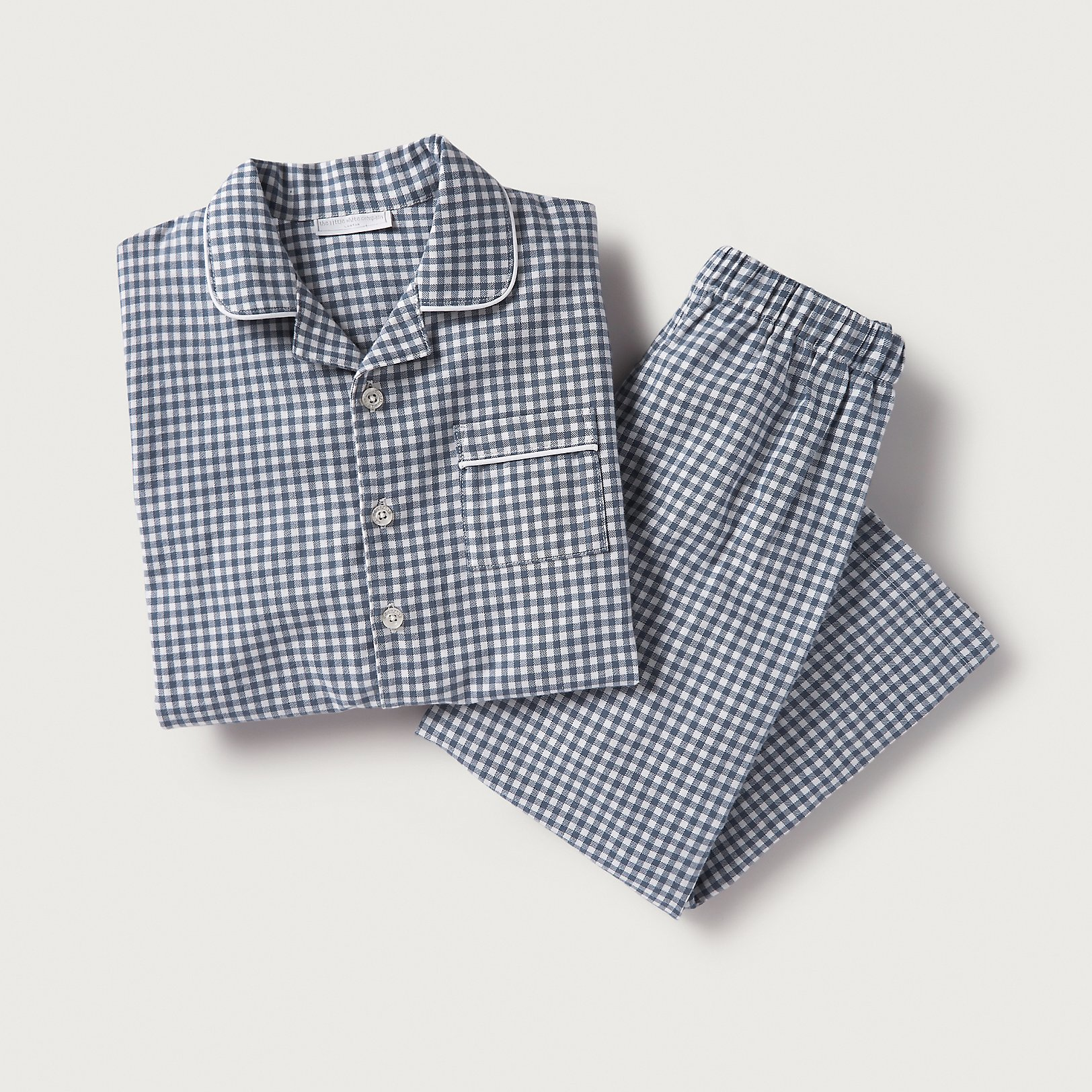 Kids gingham flannel pyjamas