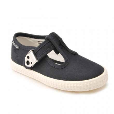 Navy-canvas-t-bar-shoes