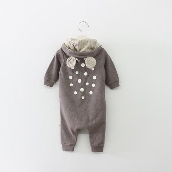 Baby jumpsuit with ears