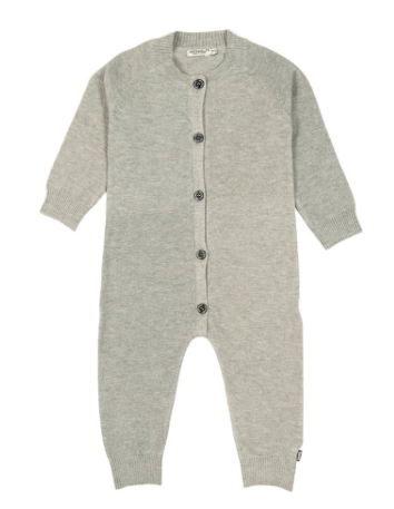 Baby grey knit jumpsuit