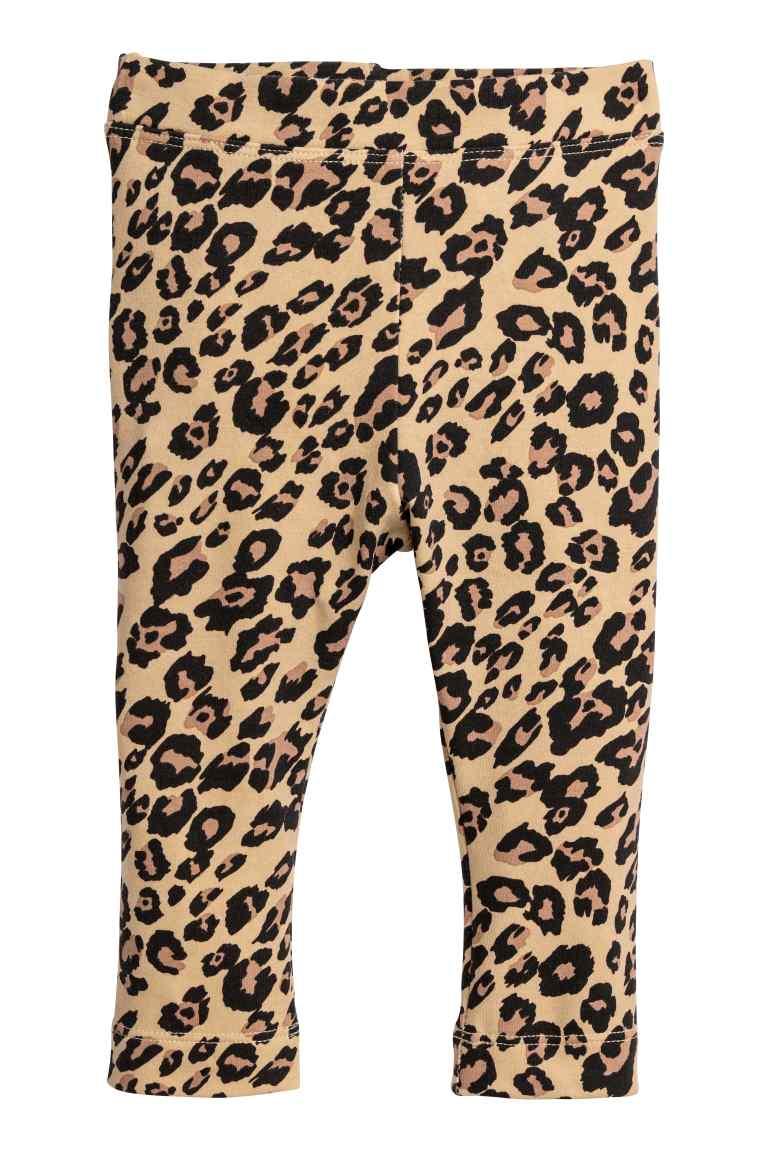 Leopard print baby leggings