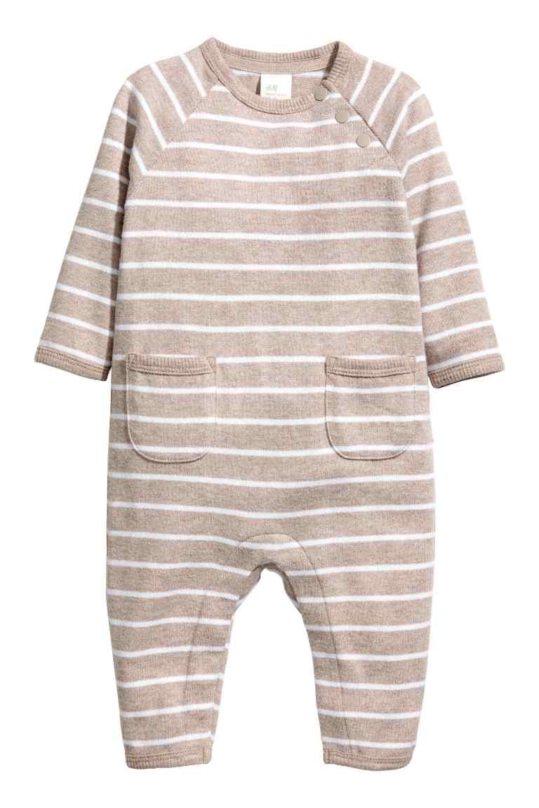 Striped baby romper