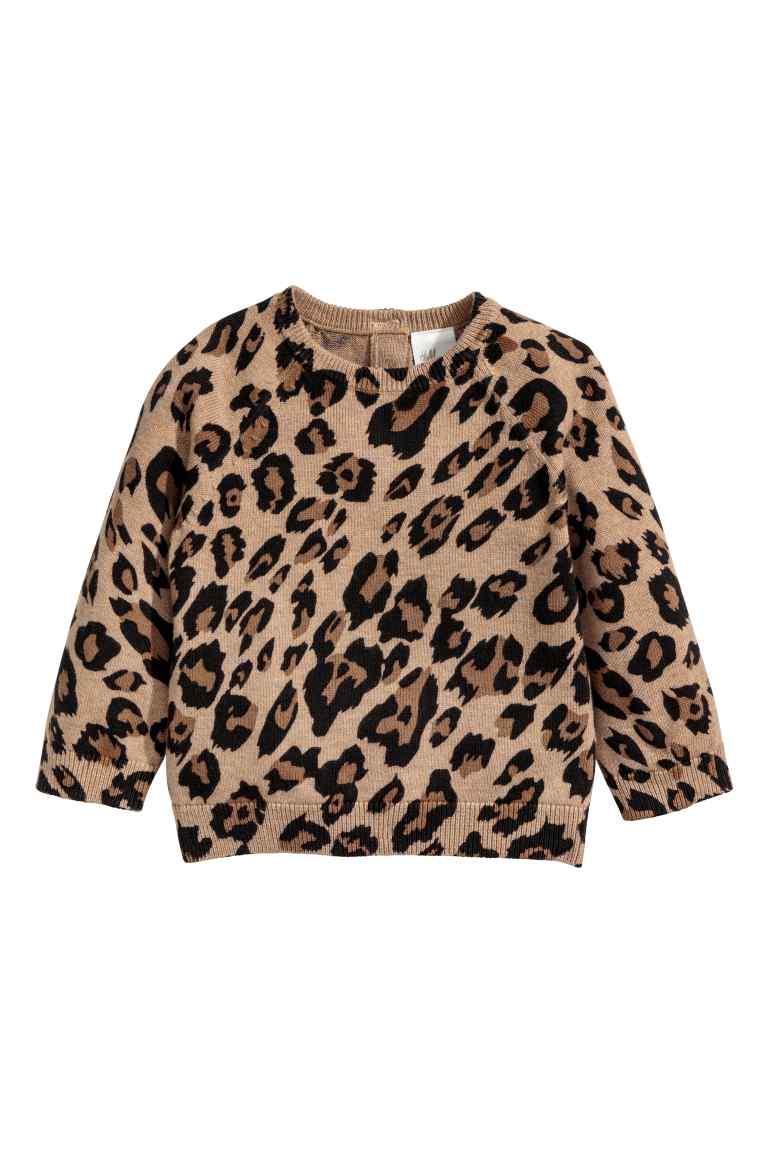 Baby leopard print jumper