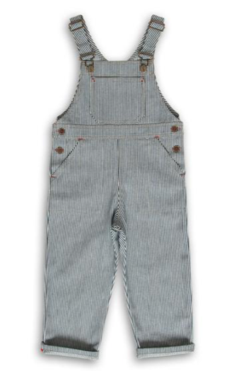 Ticking stripe dungarees