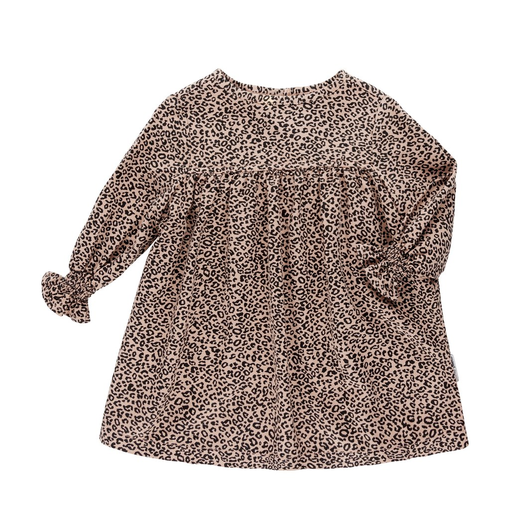 Leopard print kids dress