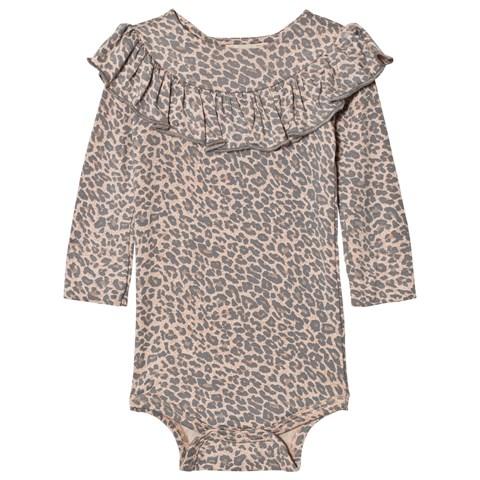 Leopard print baby bodysuit