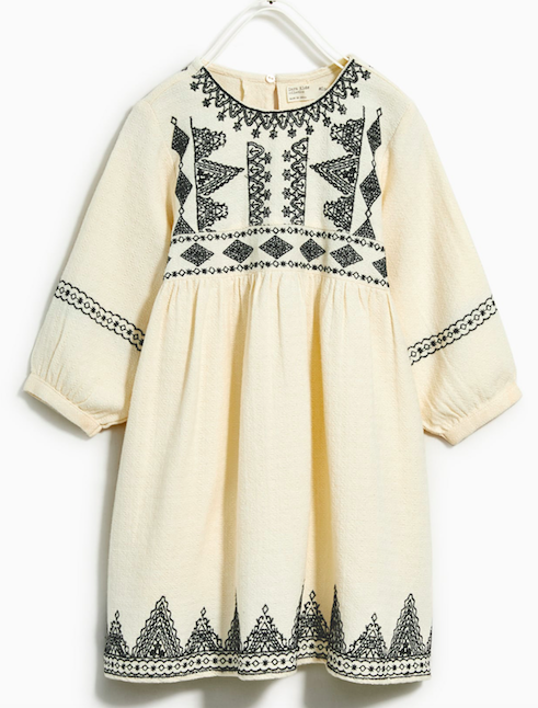 Cream-embroidered-boho-dress