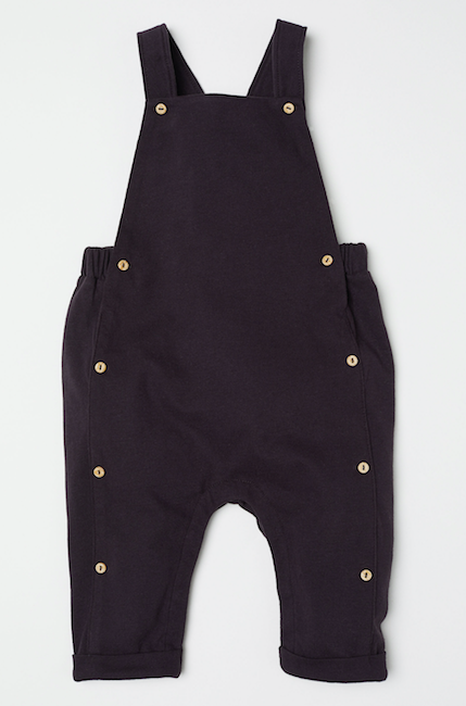 black-baby-dungarees