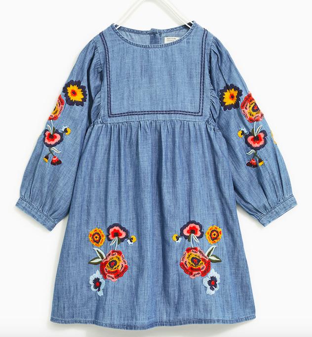 denim-embroidered-dress