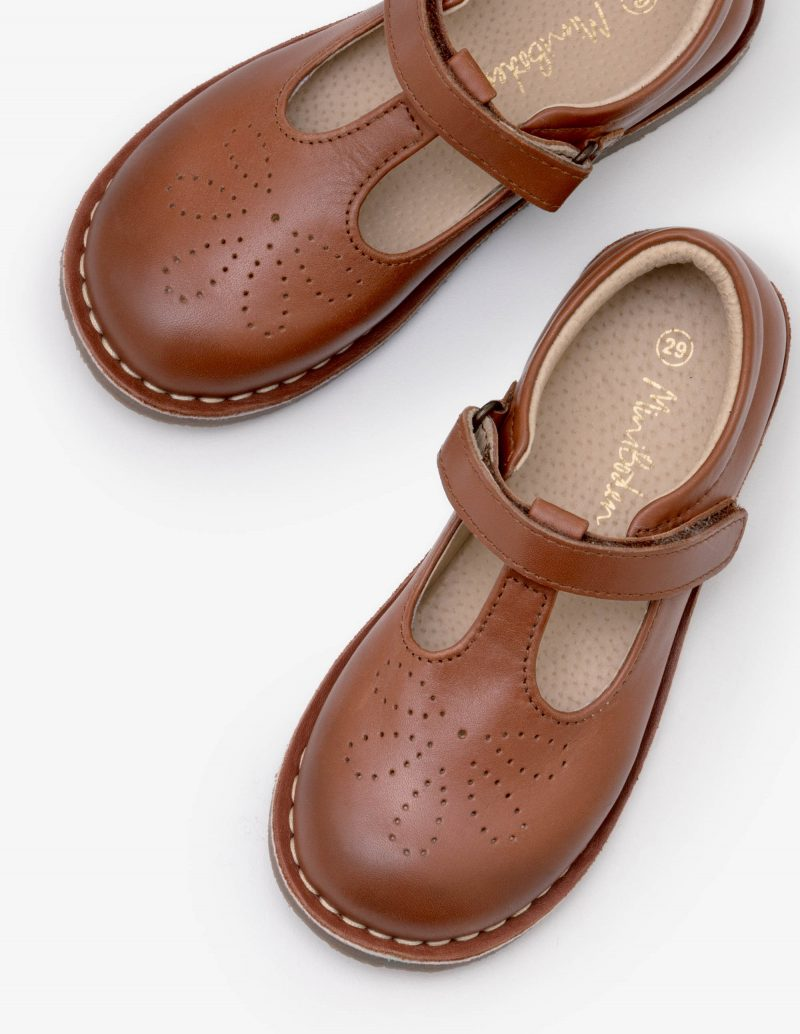 girls-leather-t-bar-flat-shoes-brown