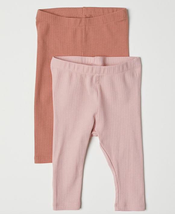 girls-pink-ribbed-leggings