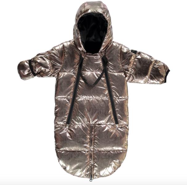 Gold snowsuit