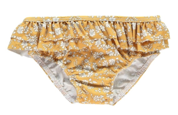 mustard-liberty-print-frill-swim-briefs