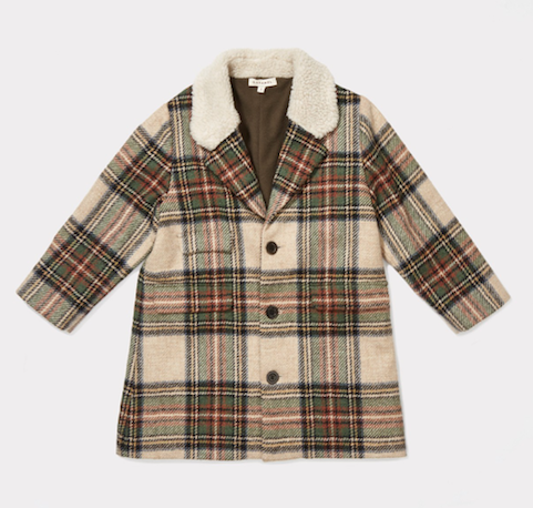 Girl check coat