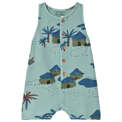 Kids-green-print-playsuit