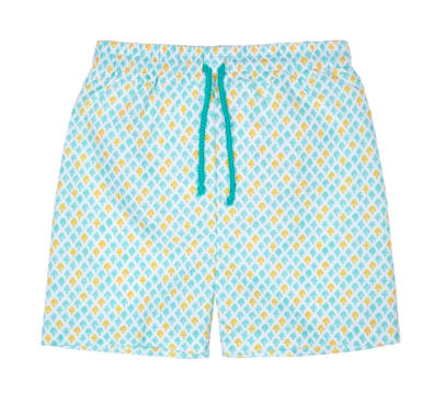green-print-swim-shorts
