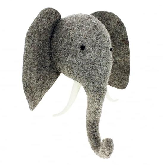 felt-elephant-head