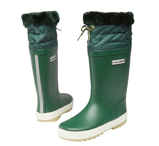 green-fur-lined-kids-wellies