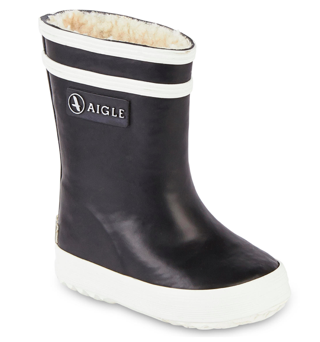kids-navy-fur-lined-rain-boots
