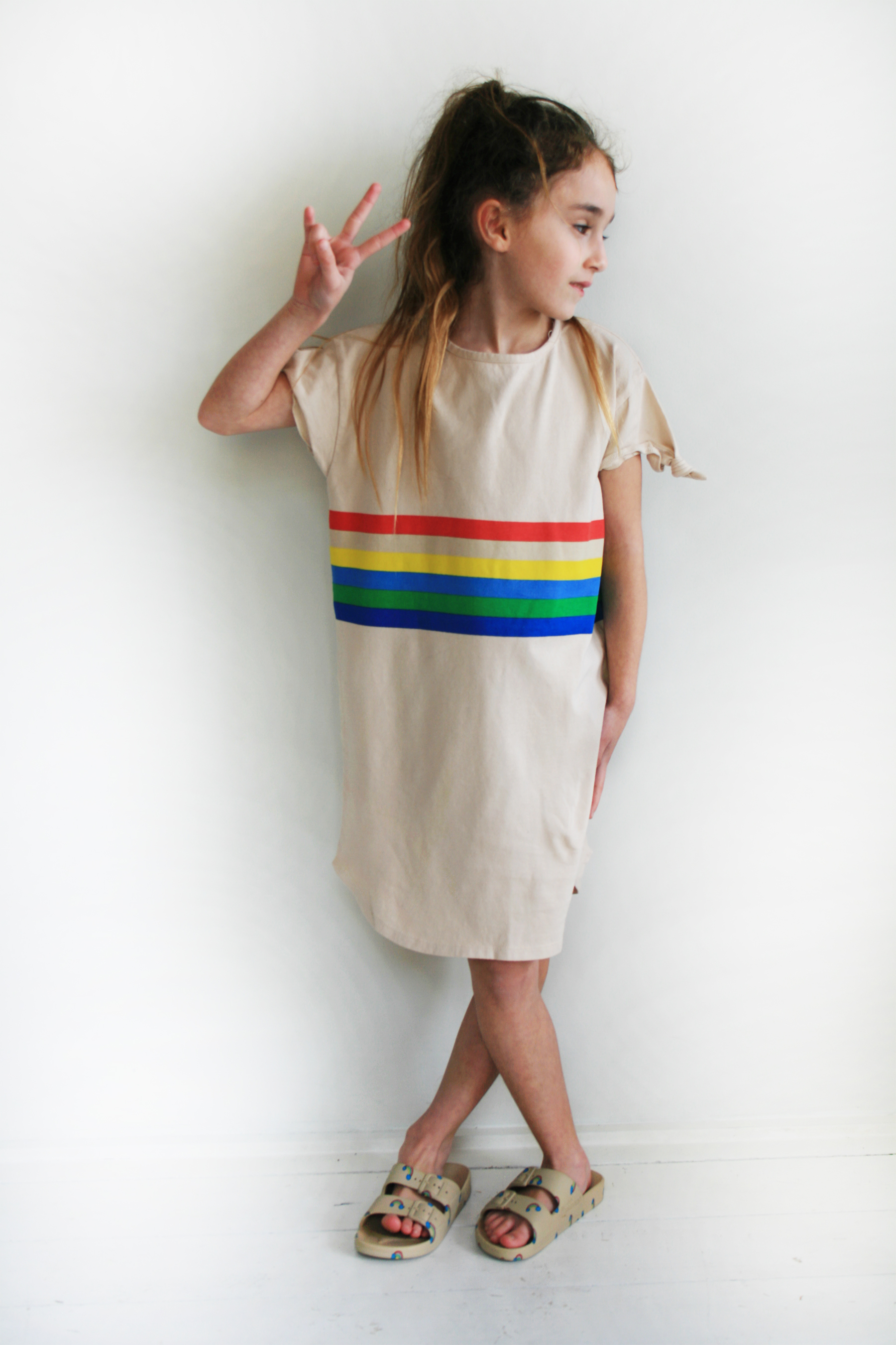 rainbow-stripe-t-shirt-dress