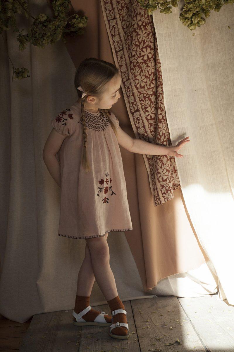 girls-pink-smock-dress