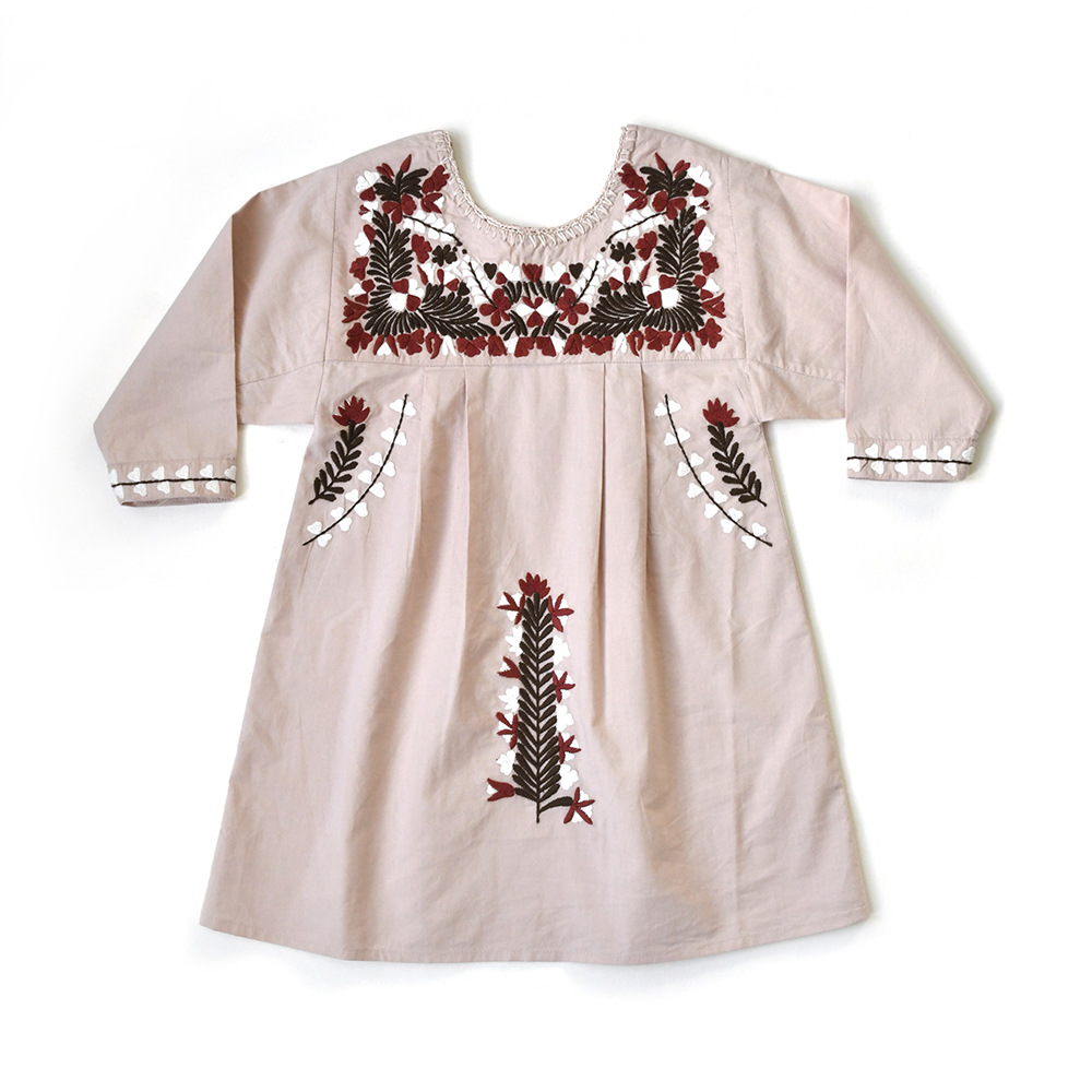 pink-embroidered-boho-dress