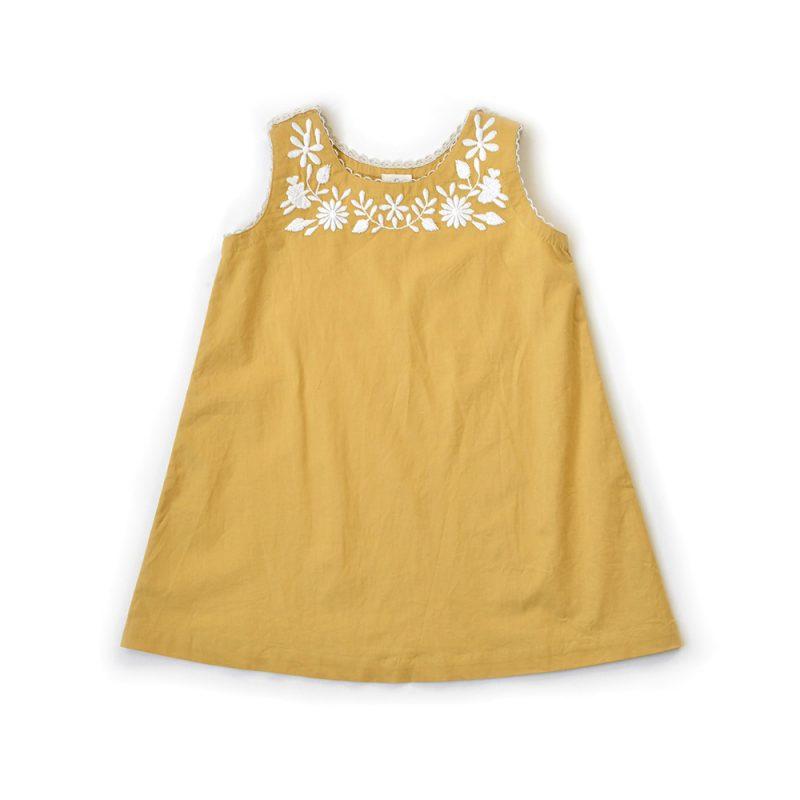 girls-yellow-embroidered-summer-dress