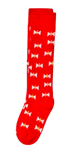 red-printed-socks