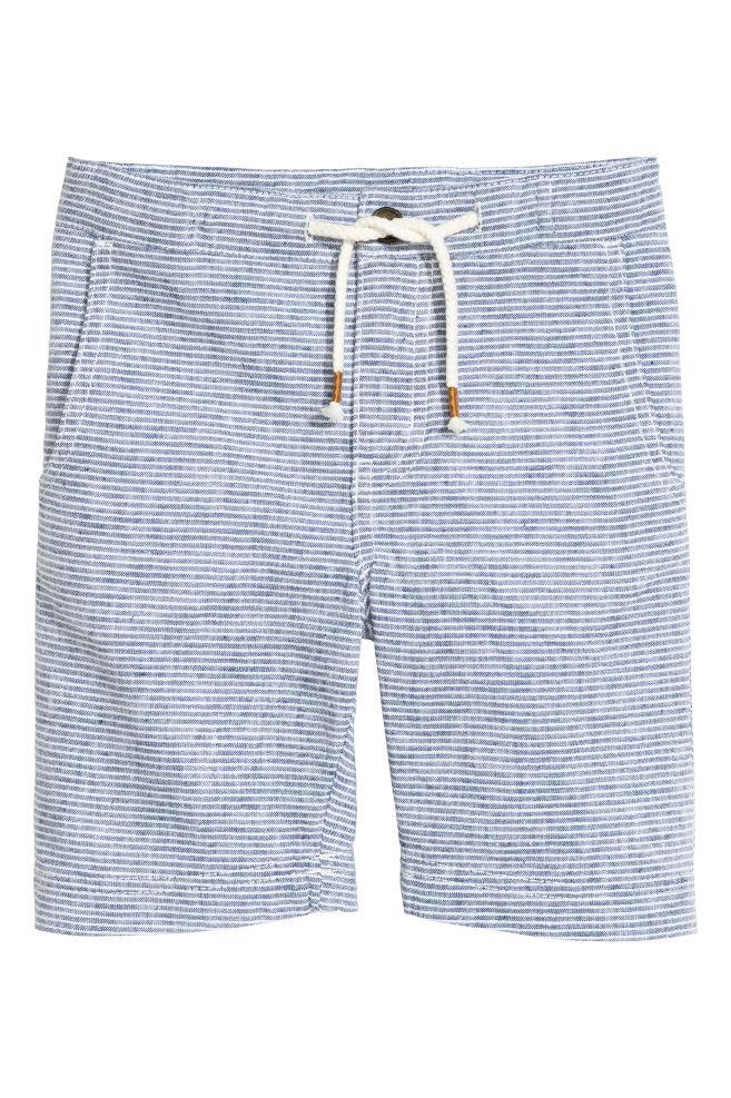 blue-linen-shorts