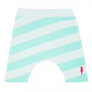 green-stripe-towelling-shorts