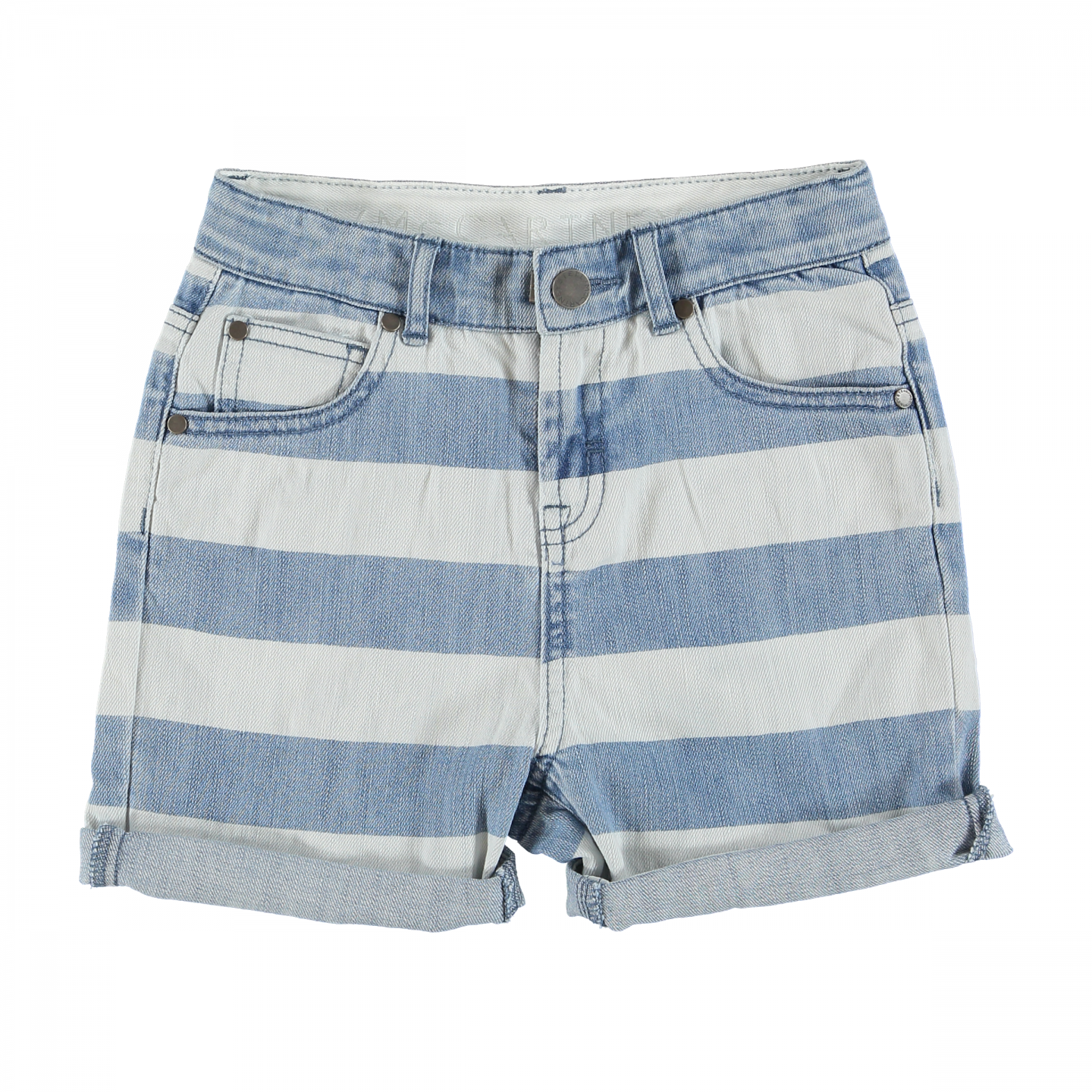 striped-denim-shorts