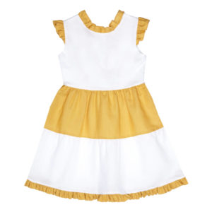 yellow-and-white-frill-dress