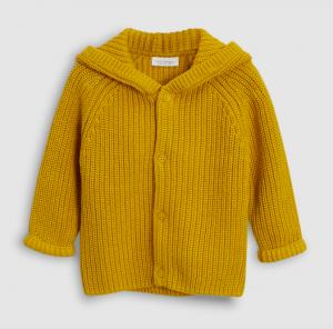 ochre-hooded-knit-cardigan