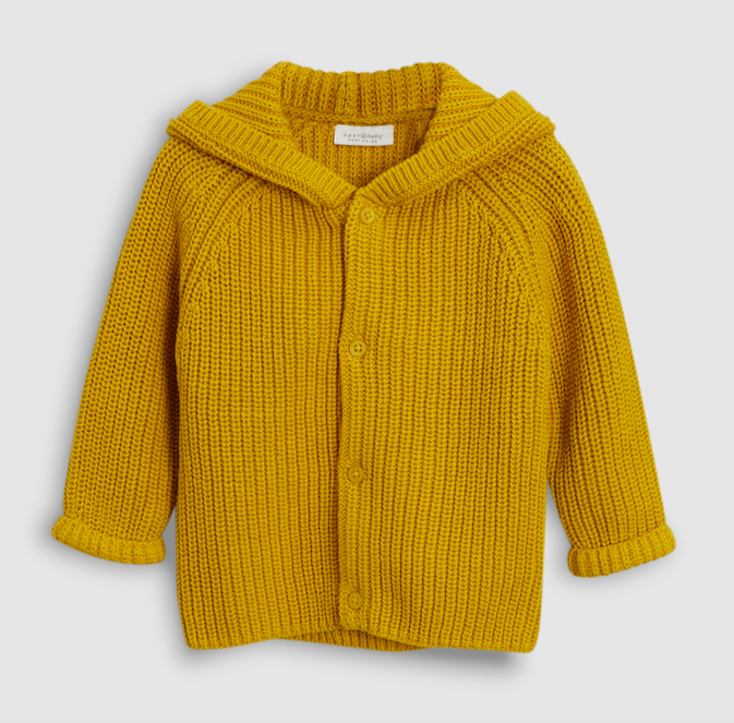 ochre-hooded-knit-cardigan