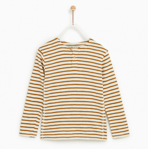 ochre-striped-t-shirt