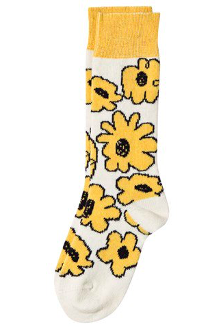 yellow-flower-socks