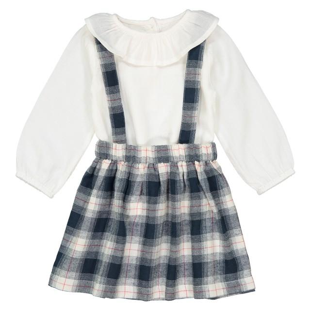 baby-girl-check-skirt-frill-blouse-set