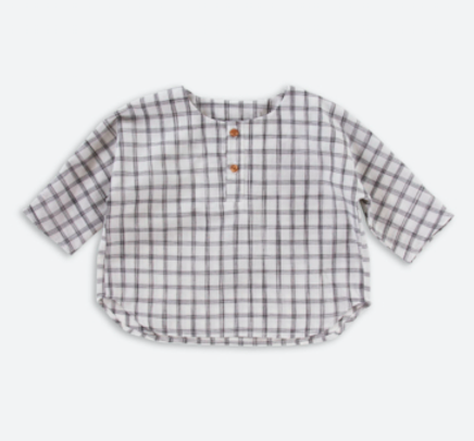 boys-collarless-check-shirt