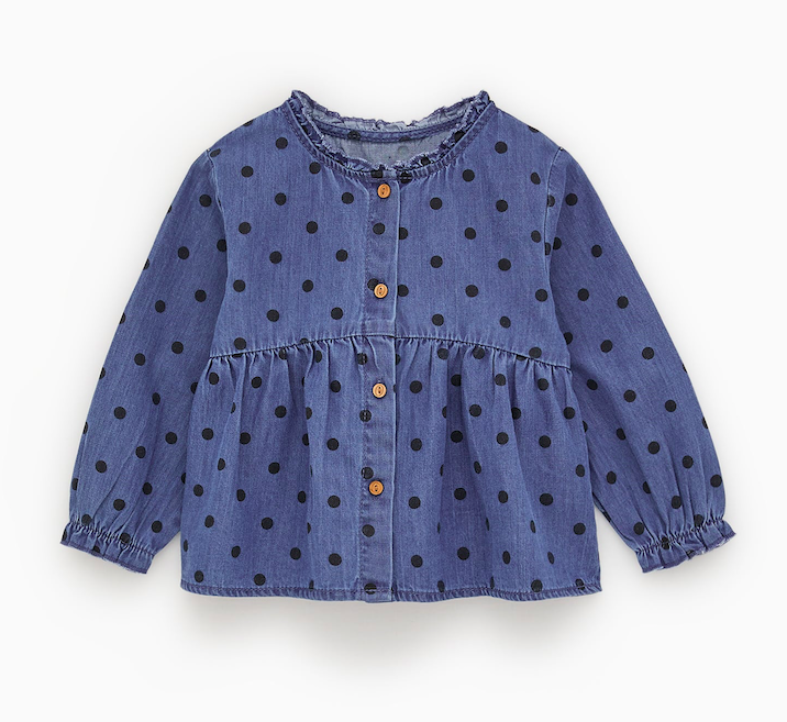 denim-polka-dot-shirt