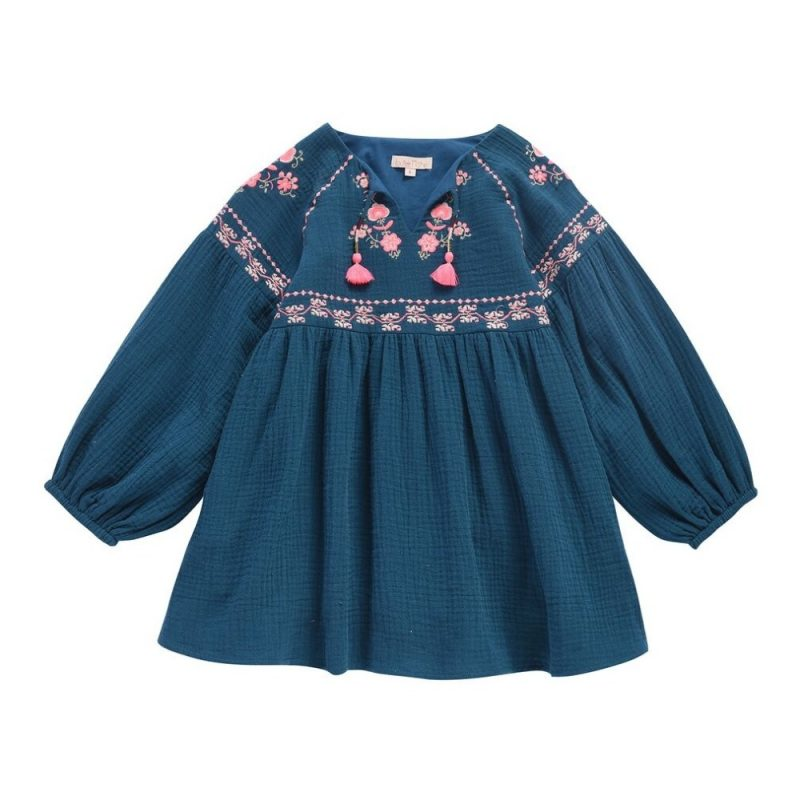 teal-embroidered-dress