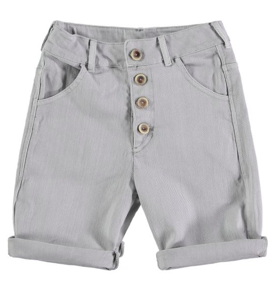 grey-button-up-shorts