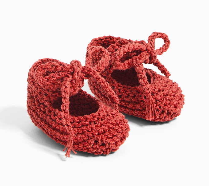 knit-bow-baby-shoes