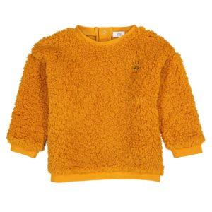 ochre-faux-fur-baby-sweatshirt