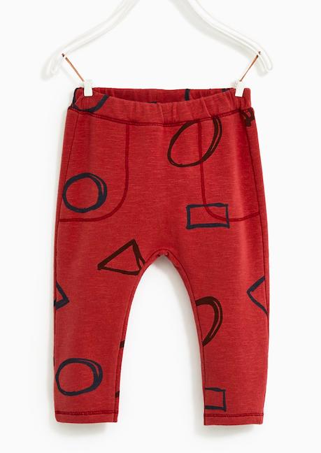 red-printed-leggings