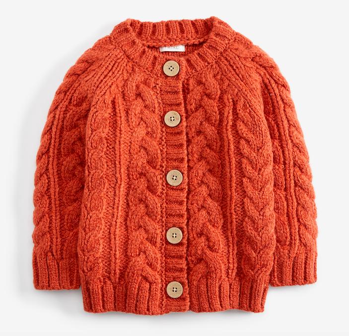 rust-chunky-knit-cardigan