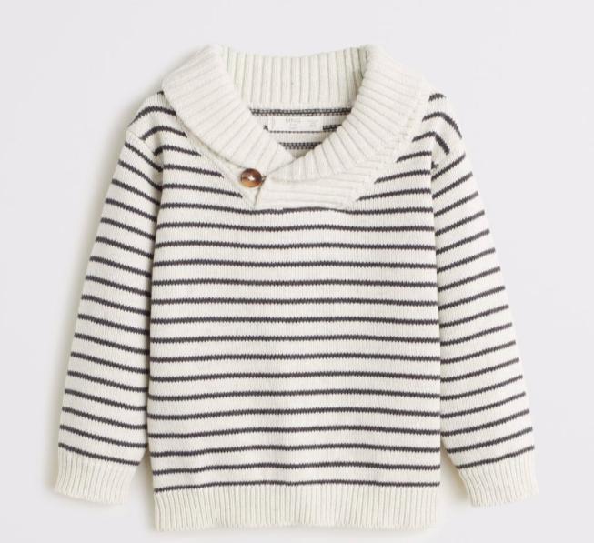 stripe-knit-sweater