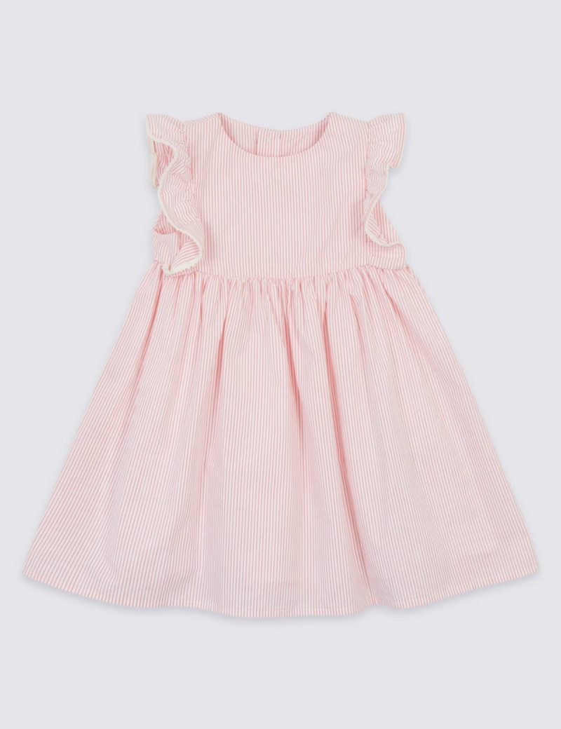 striped-frill-baby-dress