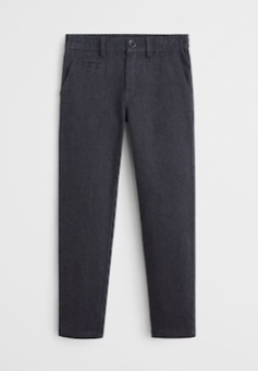 Grey turn-up boys trousers