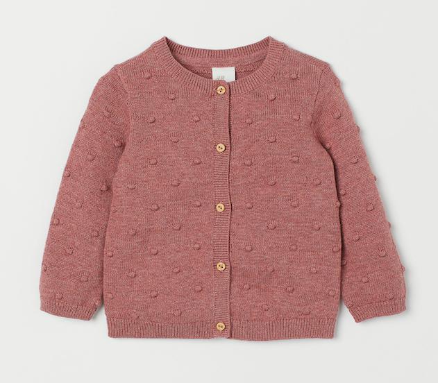 vintage-style-pink-knit-cardigan