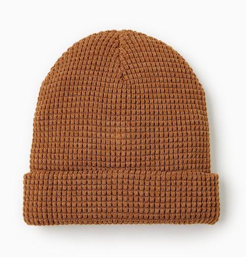 waffle-knit-ochre-beanie-hat